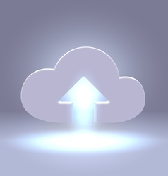 Uploading active cloud icon vector image