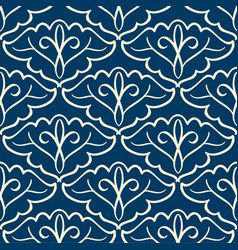vintage seamless pattern with arabesque ornament vector image