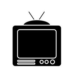 Vintage television icon vector