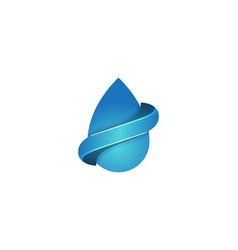 water oil drop and infinity logo designs vector image