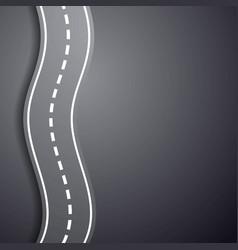 Winding road overcoming difficulties vector
