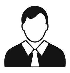 Worker avatar simple icon vector image