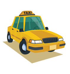 yellow cab in cartoon style vector image