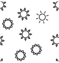 yellow sun icon seamless pattern vector image