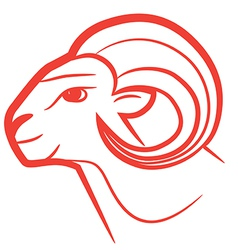 zodiac sign aries logo vector image