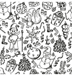 Christmas set of hand-drawn vector image vector image