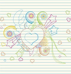 love festive banner vector image vector image