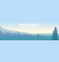 the blue wildforest landscape vector image vector image