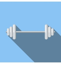 Barbell flat icon vector image