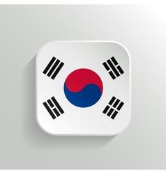 Button - South Korea Flag Icon vector image vector image