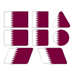 buttons with flag of Qatar vector image vector image
