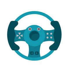 Steering wheel video game vector