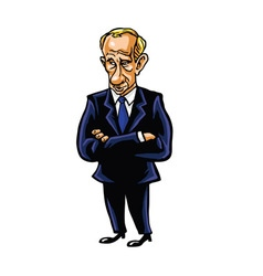 Vladimir Putin Cartoon Portrait vector image