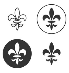 collection of fleur de lis symbols black vector image