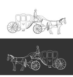 doodle coach vector image vector image