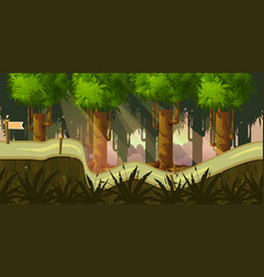 forest 2d background for game vector image vector image