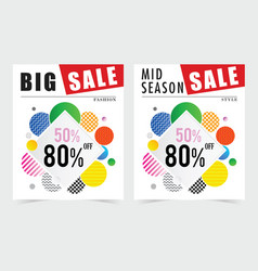 Poster for sale square design in colorful vector