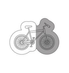 sticker contour of sport bike icon flat vector image vector image