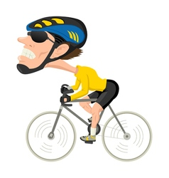Bicycle Athlete vector image