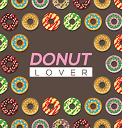 Donut Lover Background vector image vector image