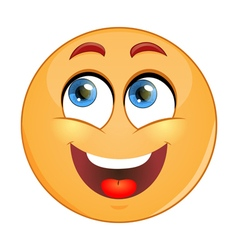 Dreamy emoticon vector image