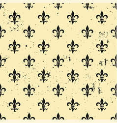 fleur-de-lis seamless pattern ols style template vector image vector image