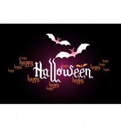 Halloween typographic banner vector image vector image