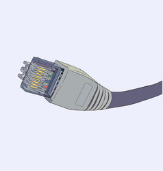 lan cable network internet vector image