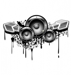 music grunge vector image