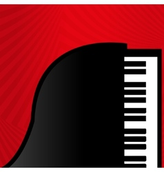 Piano on a red background vector image vector image