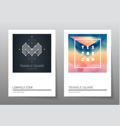 Abstract geometry backgrounds set A4 format vector