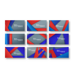 abstract red and blue material design on grey vector image
