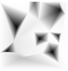 Abstract triangular holes monochrome vector