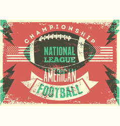 American football championship grunge poster vector