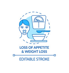 Appetite and weight loss concept icon vector