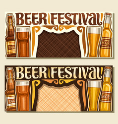 banners for beer festival vector image