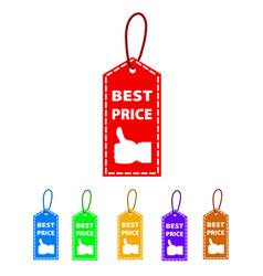 best price tag isolated on white background vector image