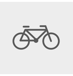 Bicycle thin line icon vector image