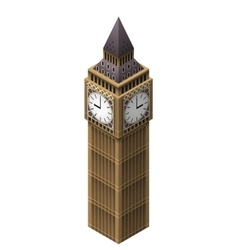 Big Ben tower vector image