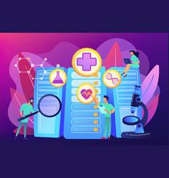 Big data healthcare concept vector