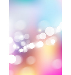 Blurred abstract colors background with bokeh vector
