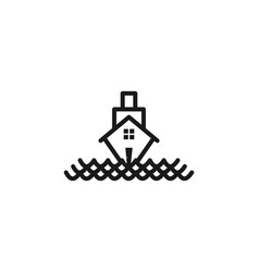 boat house logo designs inspiration isolated on vector image