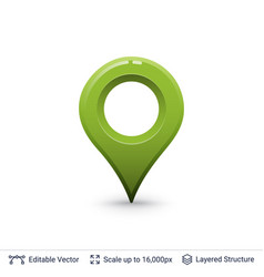 bright location pin vector image