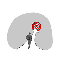 businessman run up to the red target vector image