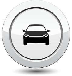 Button with car icon vector image