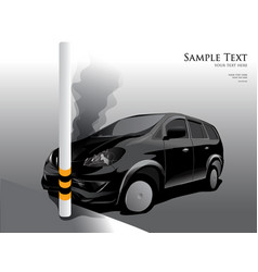 car crash street light vector image