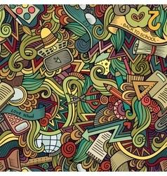 Cartoon doodles hand drawn school frame vector