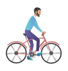 Cartoon style of man riding on vector
