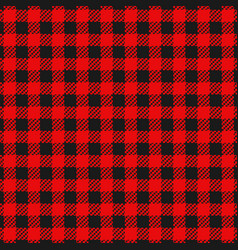 Checkered flannel plaid seamless pattern vector