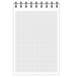 Checkered Notebook vector image